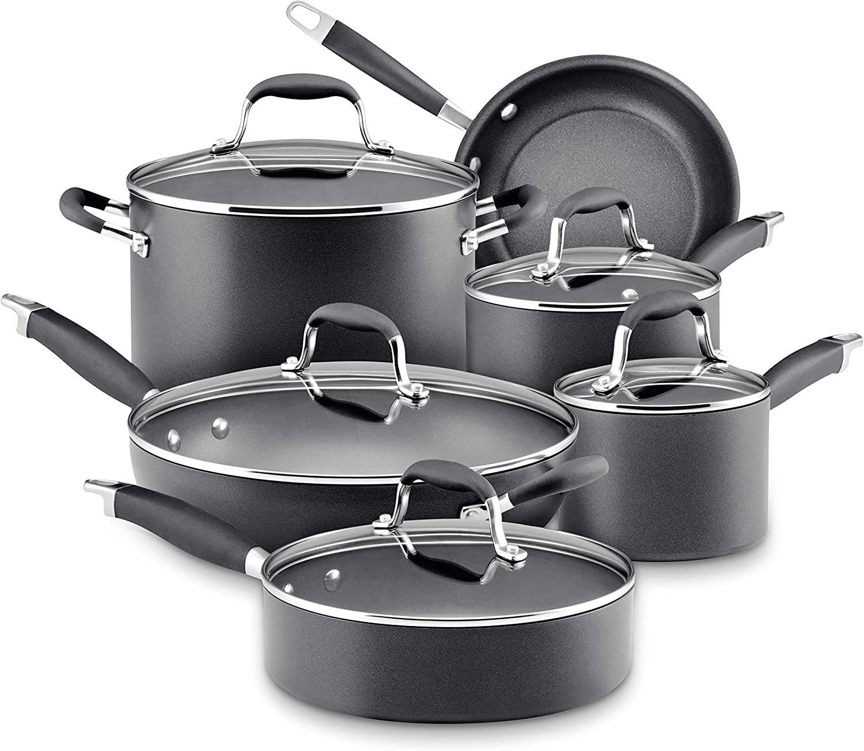 Anolon Advanced Hard-Anodized Non-stick Cookware. Pots & Pans Cookware Sets Healthiest Cookware.