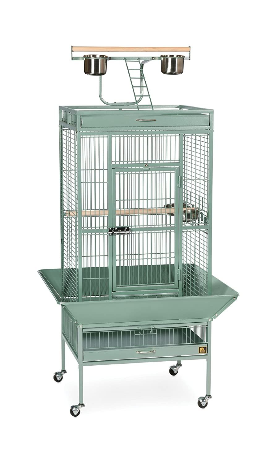 24-Inch by 20-Inch by 60-Inch Prevue Pet Products Wrought Iron Select Bird Cage, 24-Inch by 20-Inch by 60-Inch, Sage Green