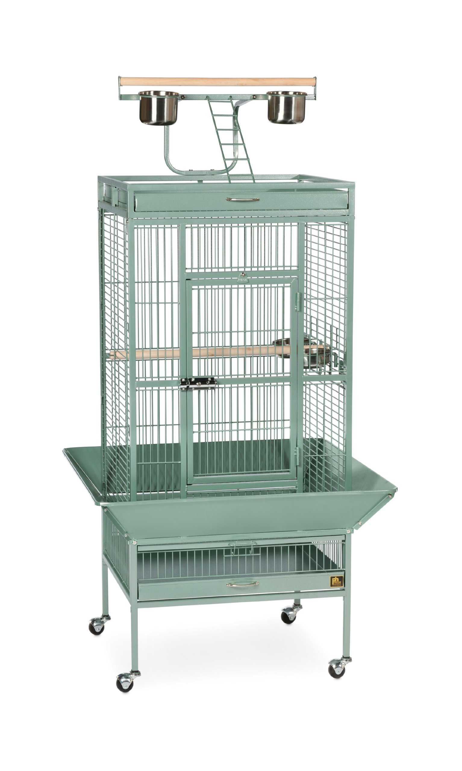 Prevue Pet Products Wrought Iron Select Bird Cage 3152SAGE Sage Green, 24-Inch by 20-Inch by 60-Inch