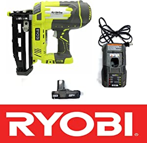 """Ryobi 18V One+ Airstrike 16-Gauge 3/4""""-2-1/2"""" Cordless Finish Nailer P325 - Battery & Charger Included"""