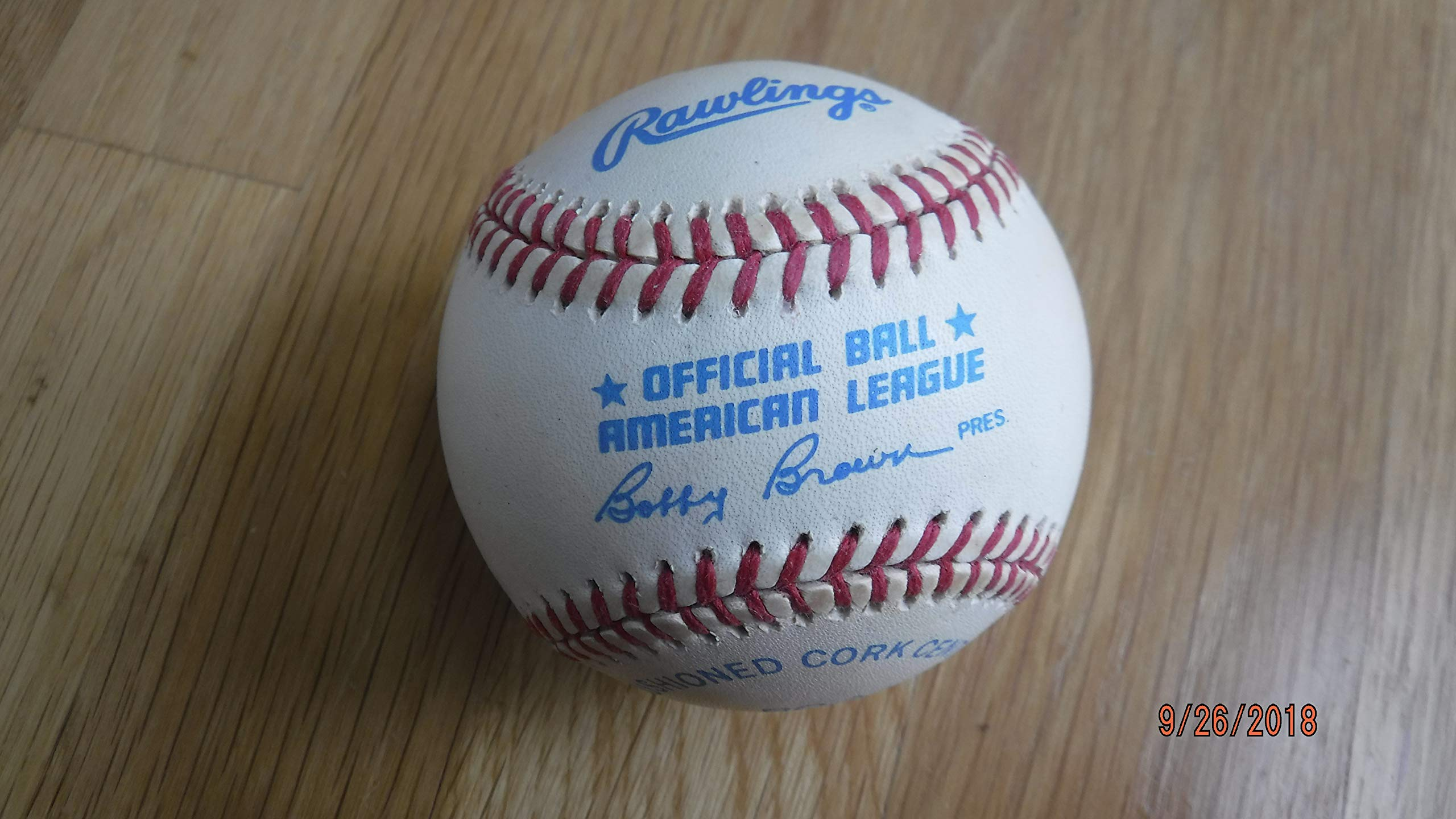 BOBBY BROWN Official 1980's American League Baseball