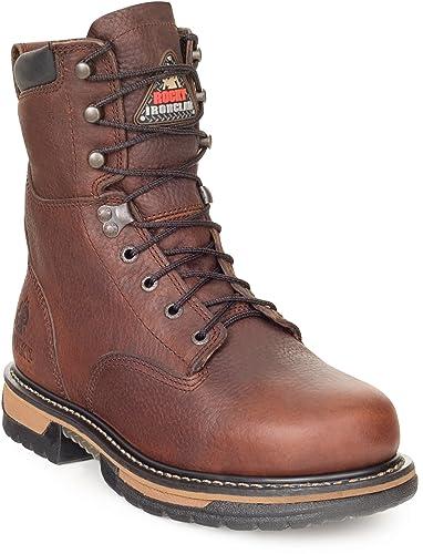 35477337f6b Amazon.com   Rocky Men's 8 Inches IronClad Steel Toe Waterproof Work ...