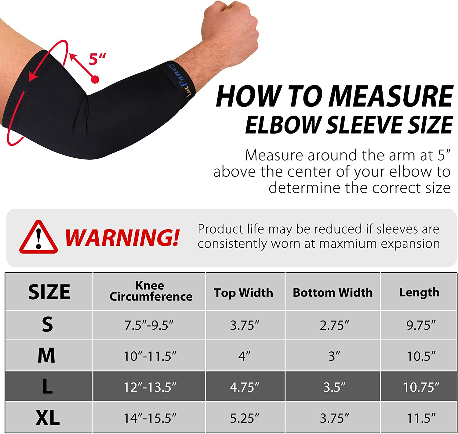 for Men 1 Pair Elbow Brace for Tendonitis Bursitis Weightlifting Arthritis Size L Copper Compression Elbow Sleeve Golf Joint Support and Recovery Women