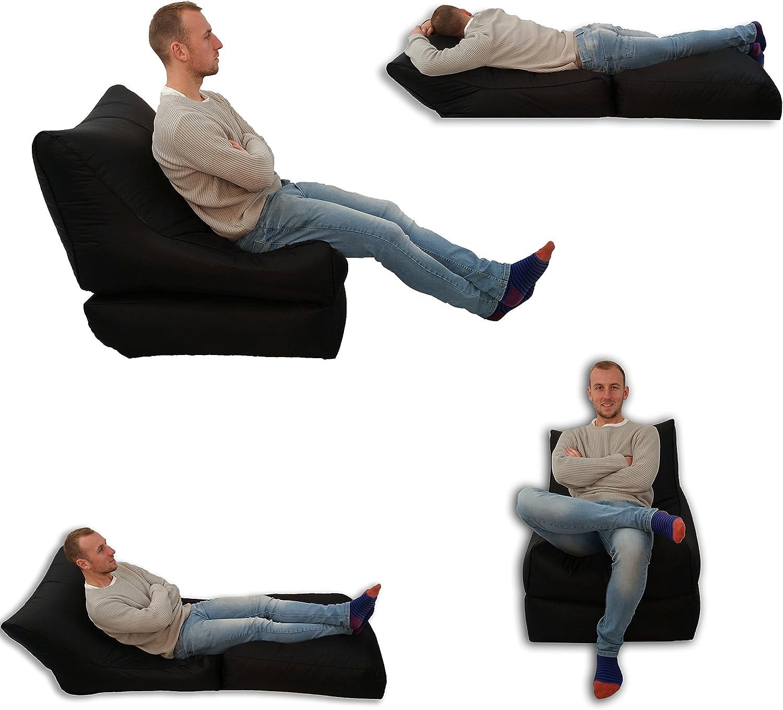 Cama y asiento tipo puff, para uso en exterior e interior, tamaño extragrande (XXXL), impermeable, para jugar a videojuegos: Amazon.es: Hogar