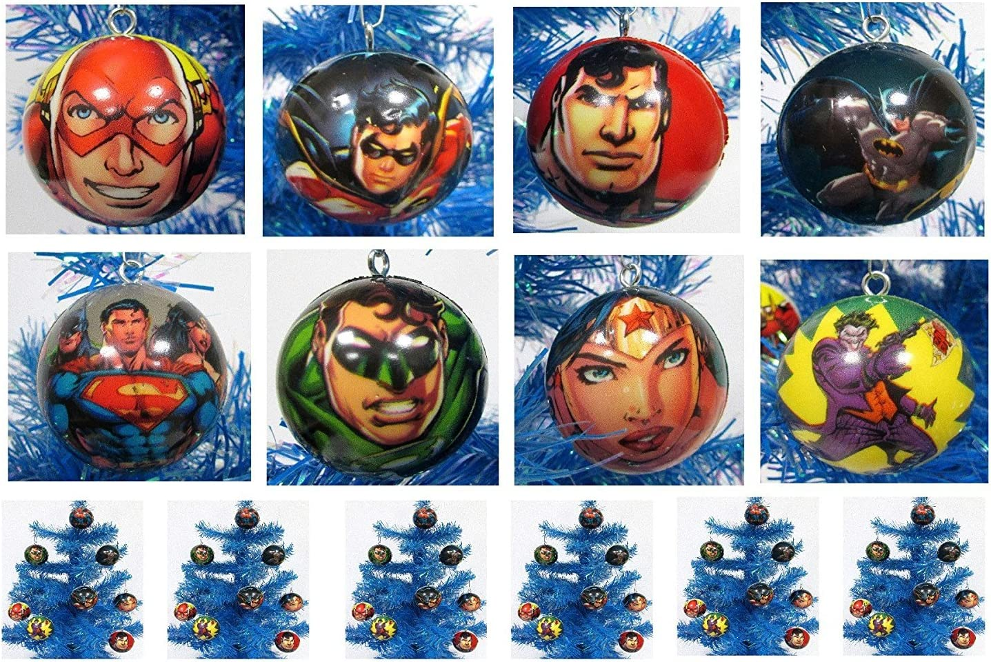 Comic Book Super Hero Holiday Christmas Ornament Set - Unique Shatterproof Foam Design by Holiday Ornaments