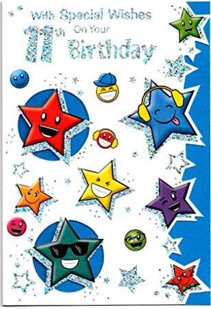 Special Wishes Birthday Card For Eleven 11 Year Old Boy