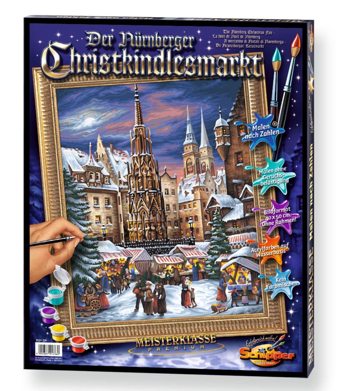 Schipper  El mercado de Navidad de Nuremberg Set para pintar por