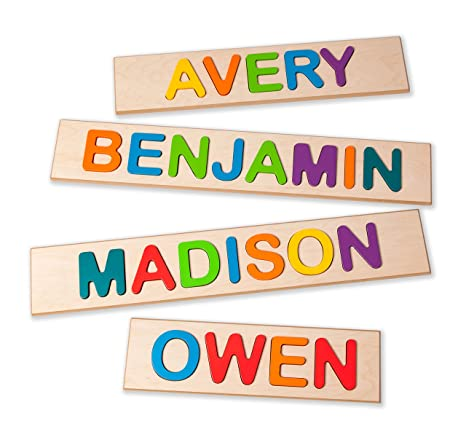 amazon com superfly kids child s personalized name puzzle up to 9
