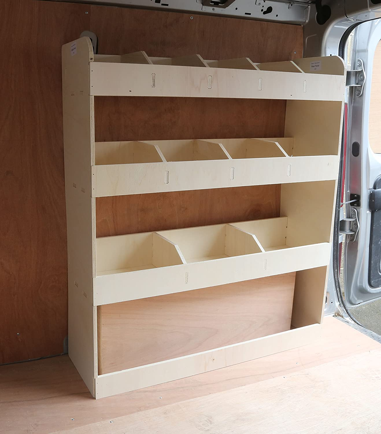 Racking Storage System Renault Trafic LWB 2015-2019 OS Front /& Rear Lightweight Plywood Van Shelving Tool Rack