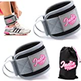 Extra Padded Ankle Straps for Cable Machines Best Cable Attachment to enhance Abs, Glutes & Leg Workouts Exercises Weightlifting Ankle Cuffs for Glute Fitness