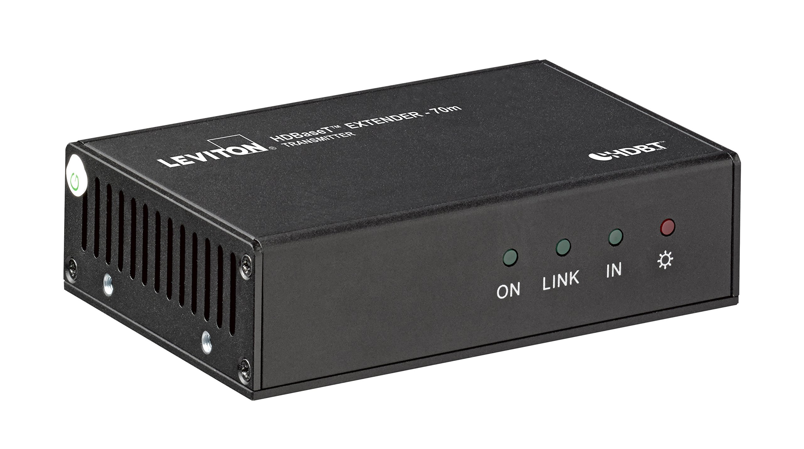 Leviton 41910-HT0 HDMI Extender with HDBaseT, Transmitter and Receiver, 70 Meters