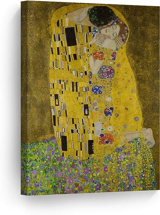 Love by Gustav Klimt Giclee Fine ArtPrint Reproduction on Canvas