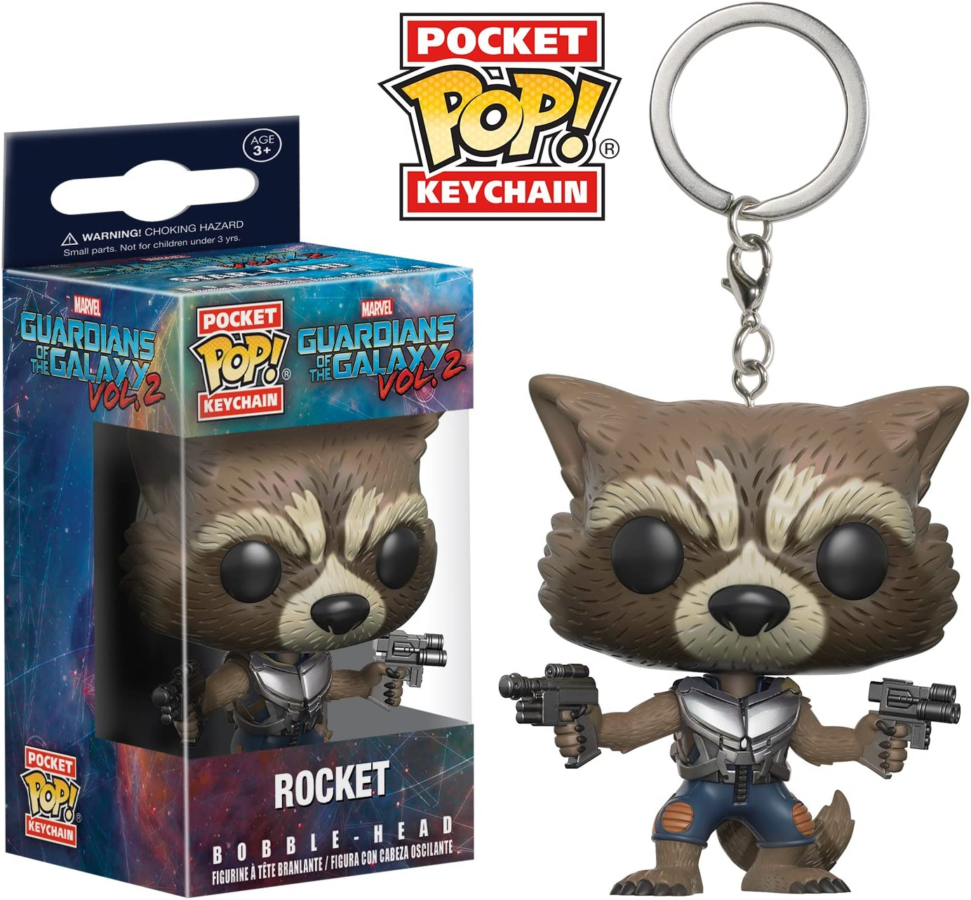 Funko Pop Keychain: Guardians of the Galaxy 2 Rocket Toy Figure