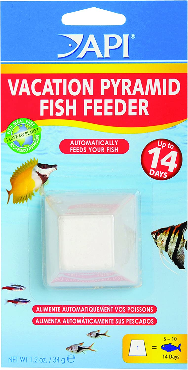 Amazon Com Api Vacation Pyramid Fish Feeder 14 Day 1 2 Ounce Automatic Fish Feeder Pet Self Feeders Pet Supplies