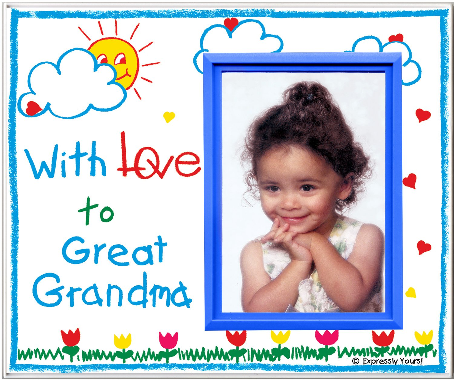 Amazon.com : With Love to Grandma - Picture Frame Gift : Childrens ...