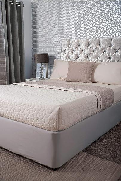 Belledorm 100% algodón jersey diván envoltura de somier de cama, nube, tamaño King