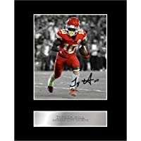Tyreek Hill Signed Mounted Photo Display Kansas City Chiefs #05 NFL Printed Autograph Gift Picture Print