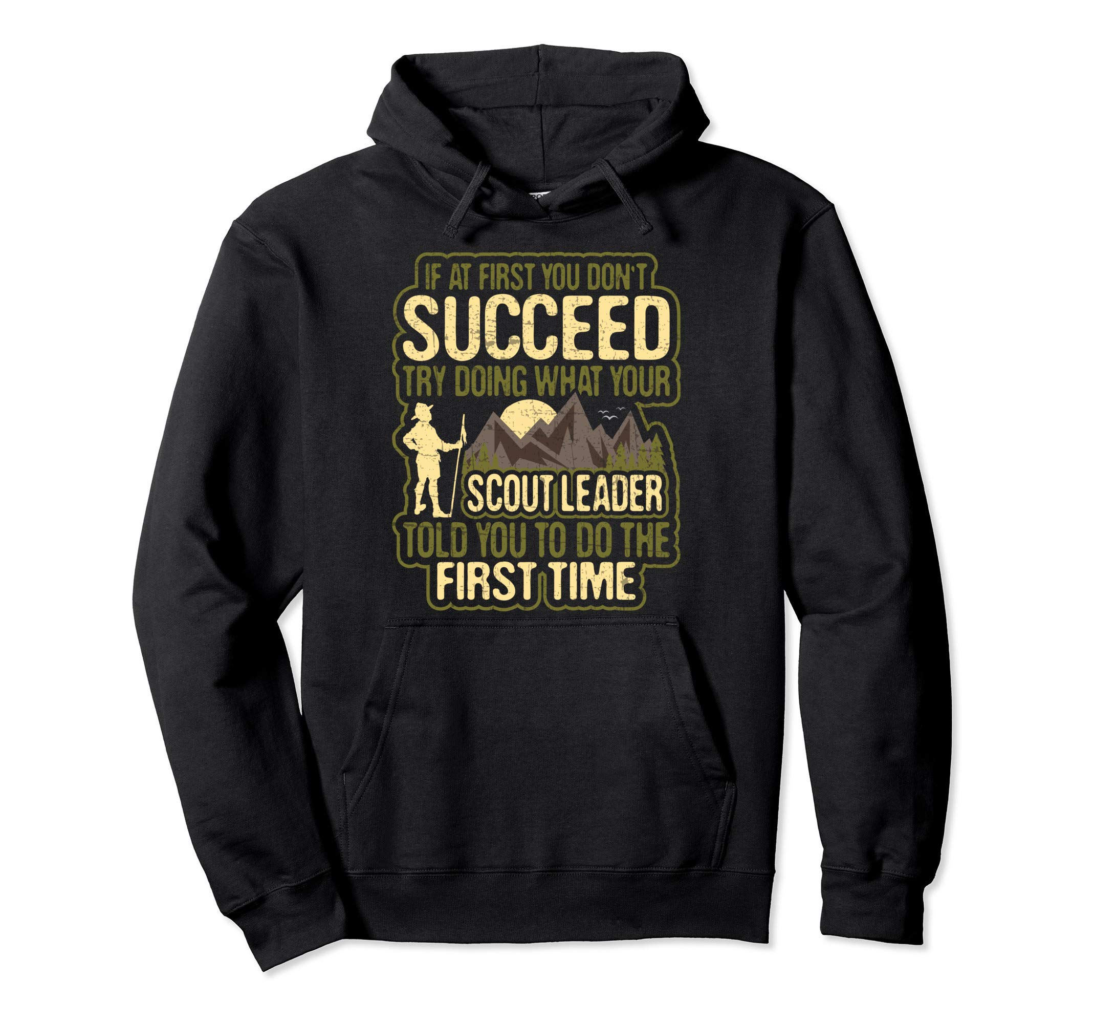 Funny Scout Leader Cub Camping Boy Hiking Scouting Troop Pullover Hoodie by Scouting Designs By Ark