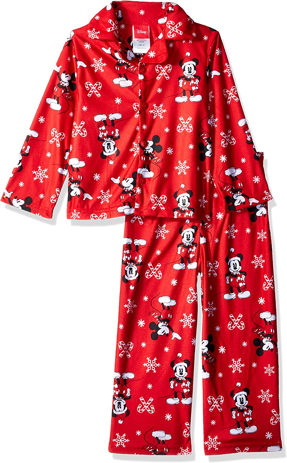 Disney Mickey Mouse Girls Candy Cane Nightgown