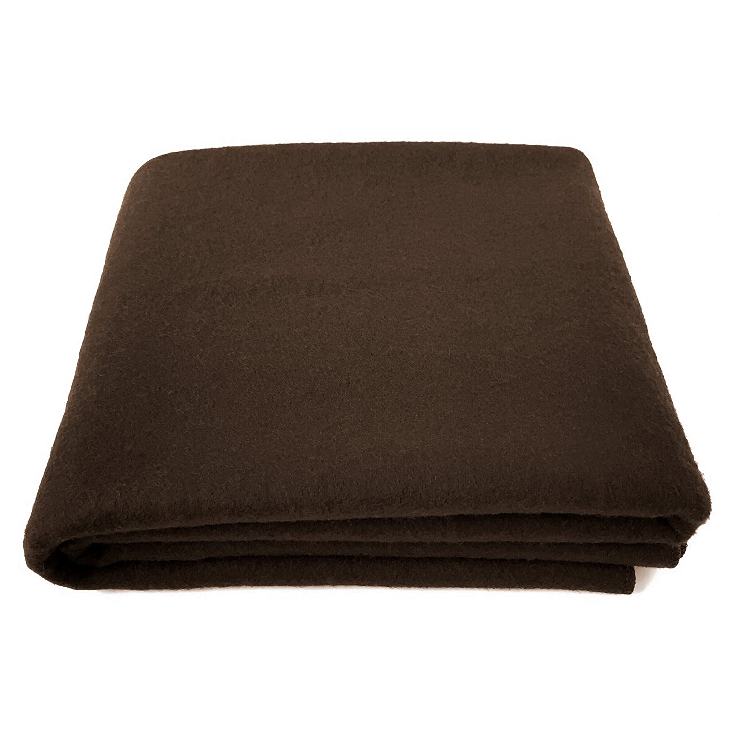 EKTOS 80% Wool Blanket, Brown, Light & Warm 3.7 lbs, Large Washable 66