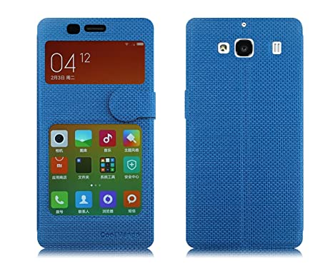 cheap for discount 7fb7d 4335b Xiaomi Redmi 2 Prime Flip Cover With Notification Window - Cool Mango  iMaterial Window Flip Cover / Case for Xiaomi Redmi 2 Prime - Cool Blue