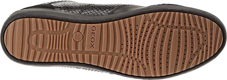 Geox D Myria C, Scarpe da Ginnastica a Collo Alto Donna Nero Black C9999