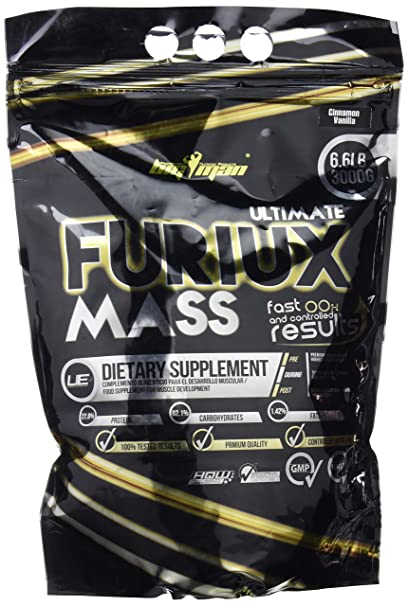 Big Man Nutrition Ultimate Furiux Mass Suplementos Fresa - 3000 gr