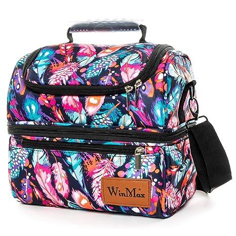 94a4ed7dc Winmax – Bolsa térmica portátil Gran Capacidad 12L Bolsa de Almuerzo Lunch  Bag Box – Nevera