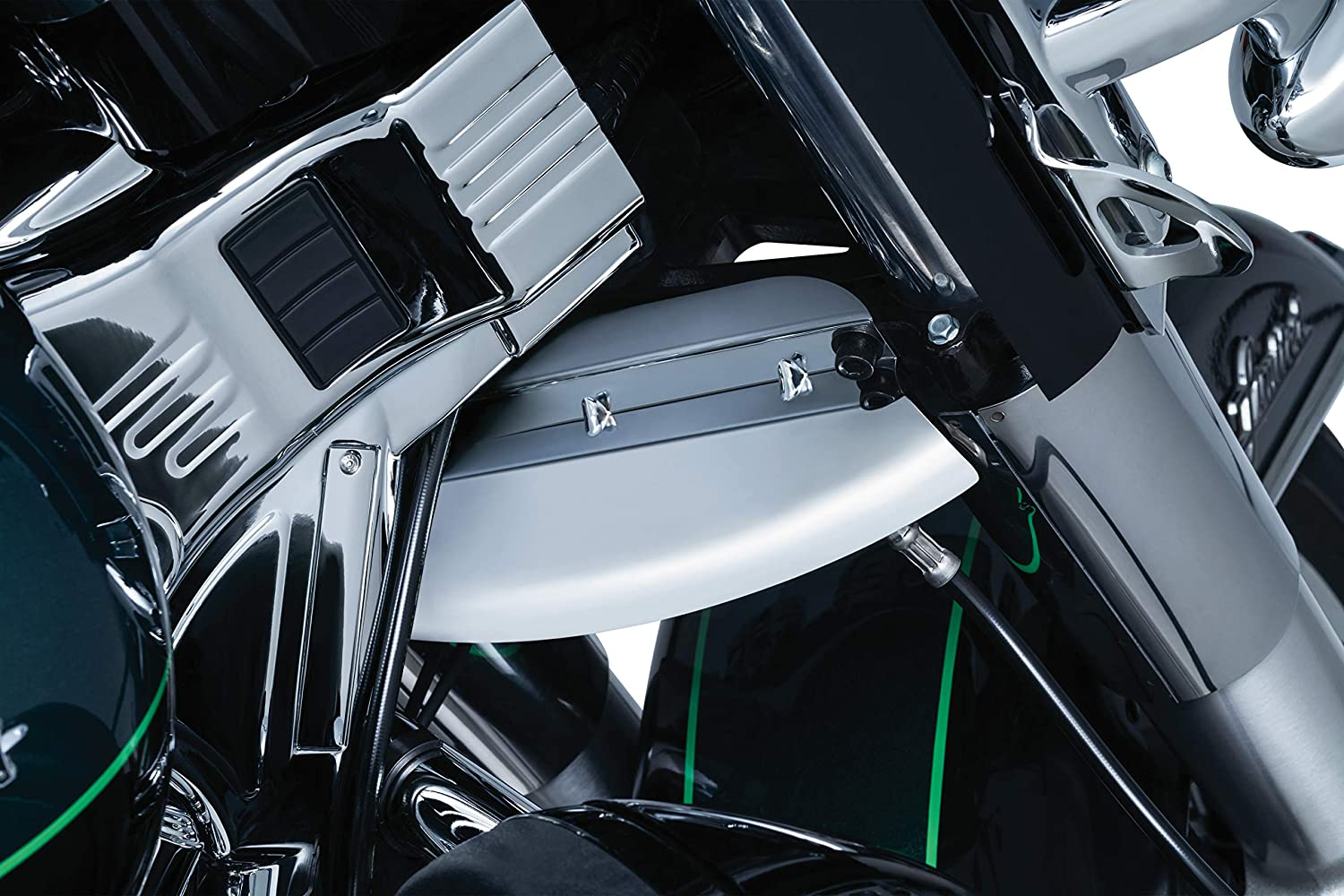 Kuryakyn 1805 Air Management Motorcycle Accessory Lower Triple Tree Wind Deflector for 2014-19 Harley-Davidson Touring Motorcycles Satin Black