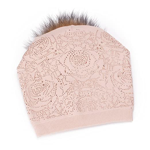 37710c15bf0aa Lawliet Womens Rhinestone Cashmere Wool Beanie Skull Ski Cap Winter Hat  T302 (Beige)