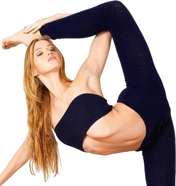 Amazon.com: Sexy Bare vientre Stretch Knit Bandeau Yoga Tubo ...