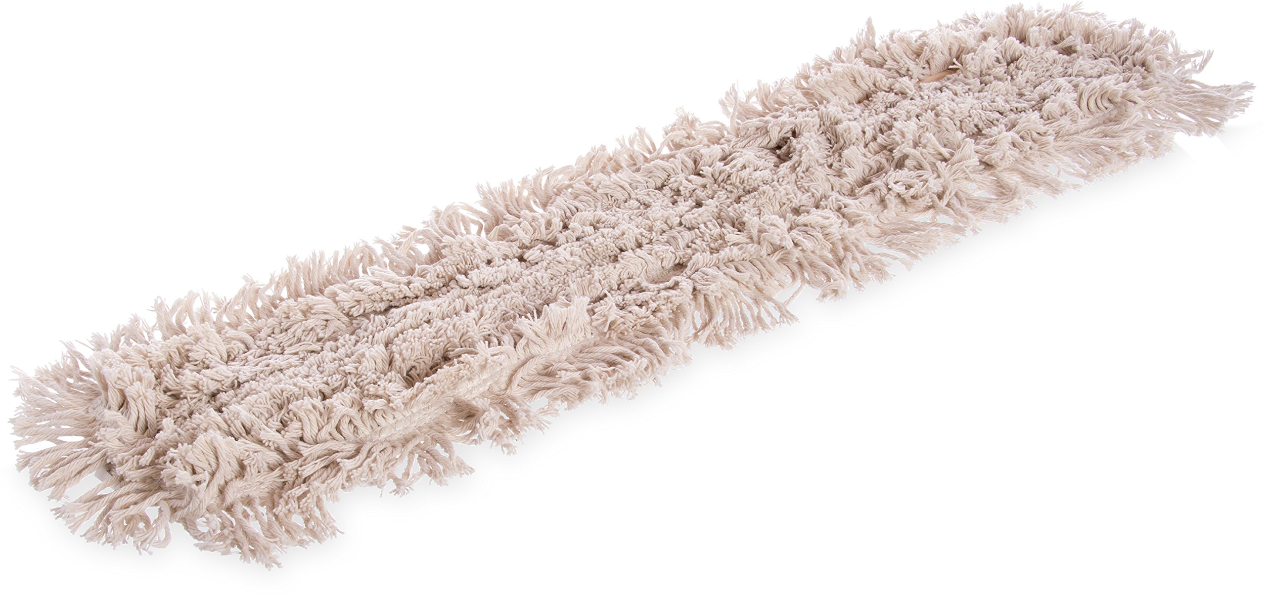 Carlisle 364753600 Flo-Pac Cotton Tie Back Dust Mop, 36'' Length x 5'' Width, Natural (Pack of 12)