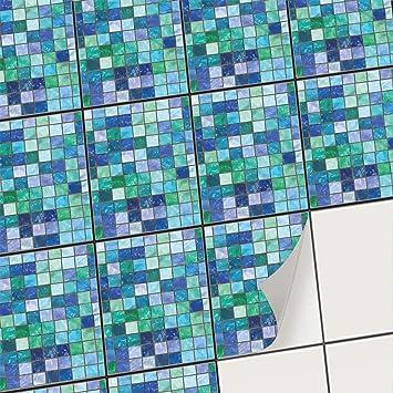 creatisto Mosaik-Fliesen Fliesensticker Fliesenfolie - Selbstklebende  Fliesen Folie | Stickerfliesen - Mosaikfliesen für Küche, Bad, WC Bordüre  (15x20 ...