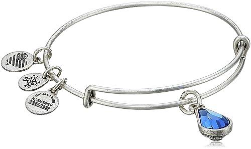 Alex and Ani September Birth Month Charm with Swarovski Crystal Bangle Bracelet