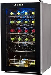 BLACK+DECKER BD61526 Wine Cellar, Black Cabinet with Gray Door Accent