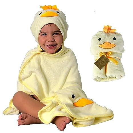 Toalla HECKBO® con capucha de pollito en 3D + toallita GRATIS | 0-6 años