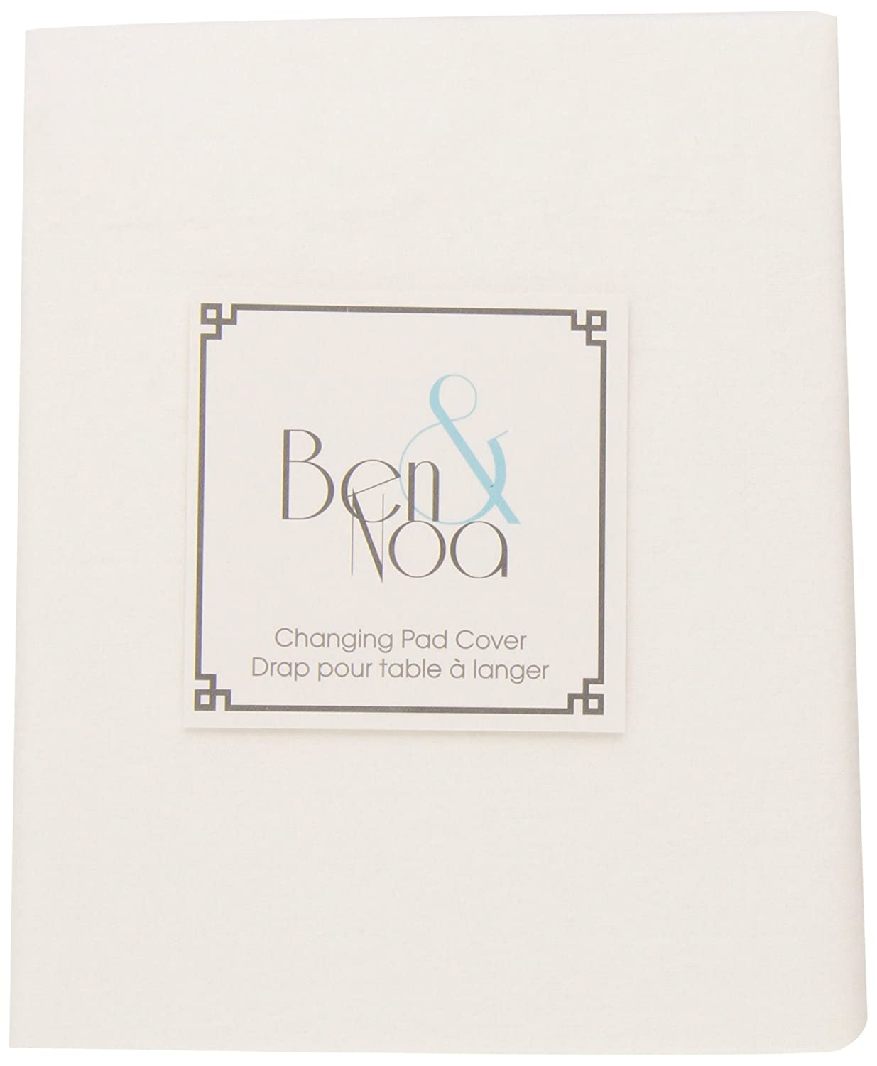 Ben & Noa Flannel Fitted Change Pad Sheet with Slits for Safety Straps, White Solid Kushies Baby BN147-00
