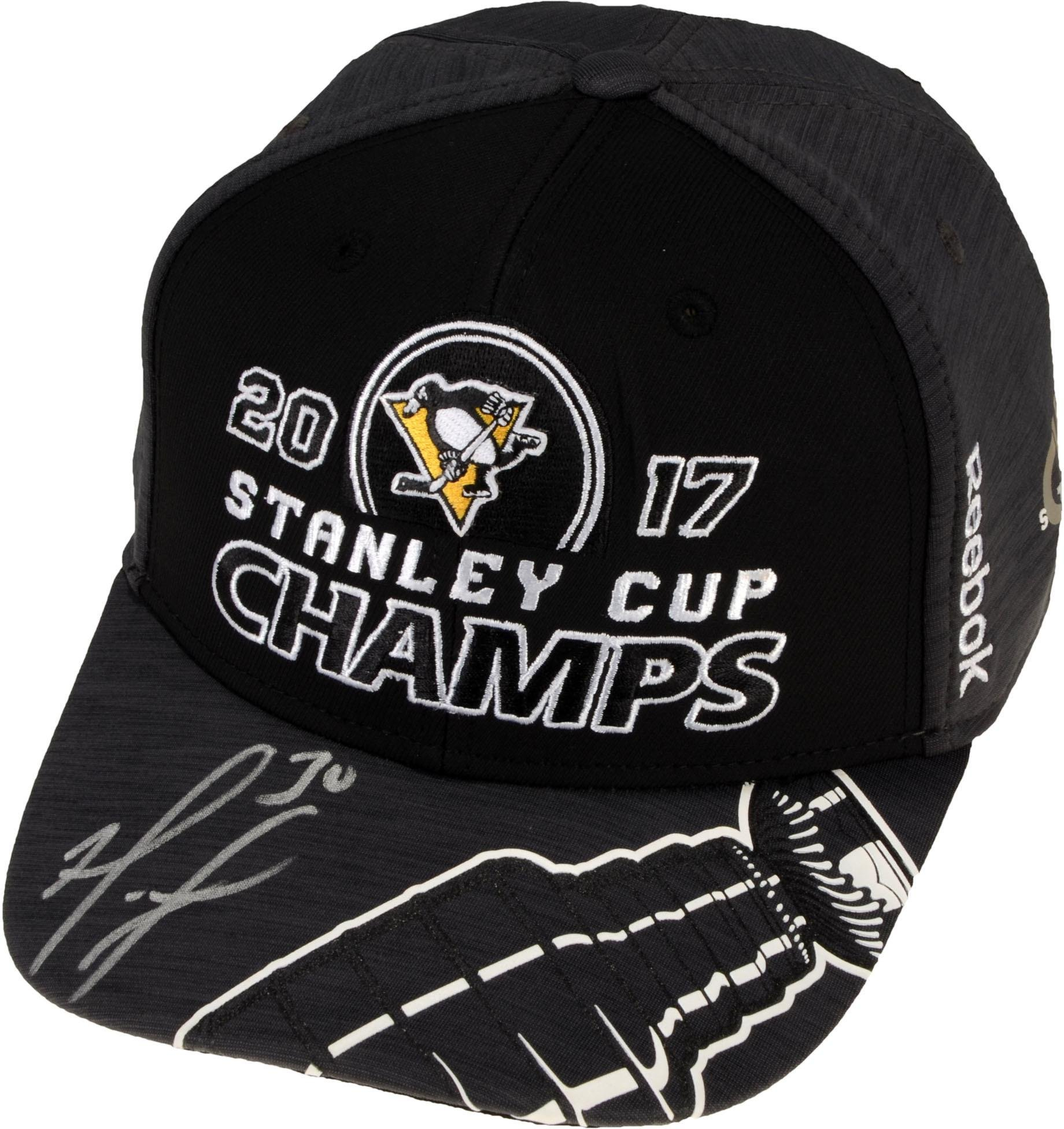 Matt Murray Pittsburgh Penguins 2017 Stanley Cup Champions Autographed Locker Room Cap Fanatics Authentic Certified