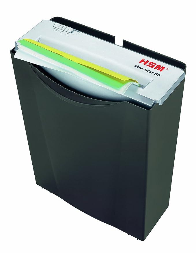 HSM shredstar S5 - Trituradora de papel, nivel de seguridad 2, 5 hojas (corte en tiras)