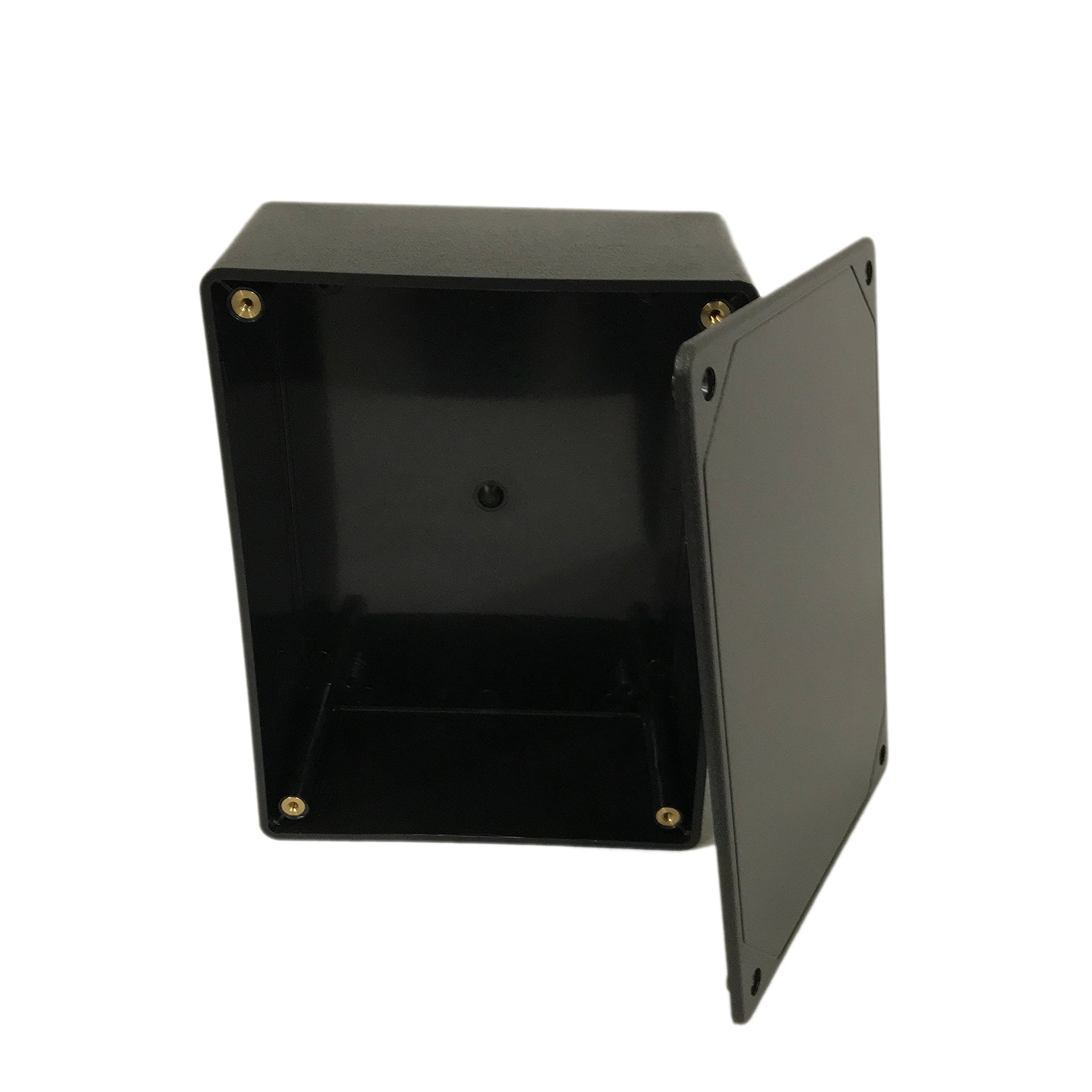 BUD Industries CU-3283 Plastic Style A Utility Box, 6-3/32'' Length x 4-19/32'' Width x 2-23/64'' Height, Black Texture Finish