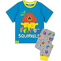 Hey Duggee Cbeebies Pyjamas Boys T Shirt with Long Or Short Bottoms PJS