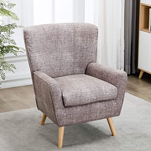 – XMGHTU – Accent Chair for Living Room, Fabric Reading Chair for Bedroom, Modern Chair Wingback, Reading Chair for Bedroom, Gray