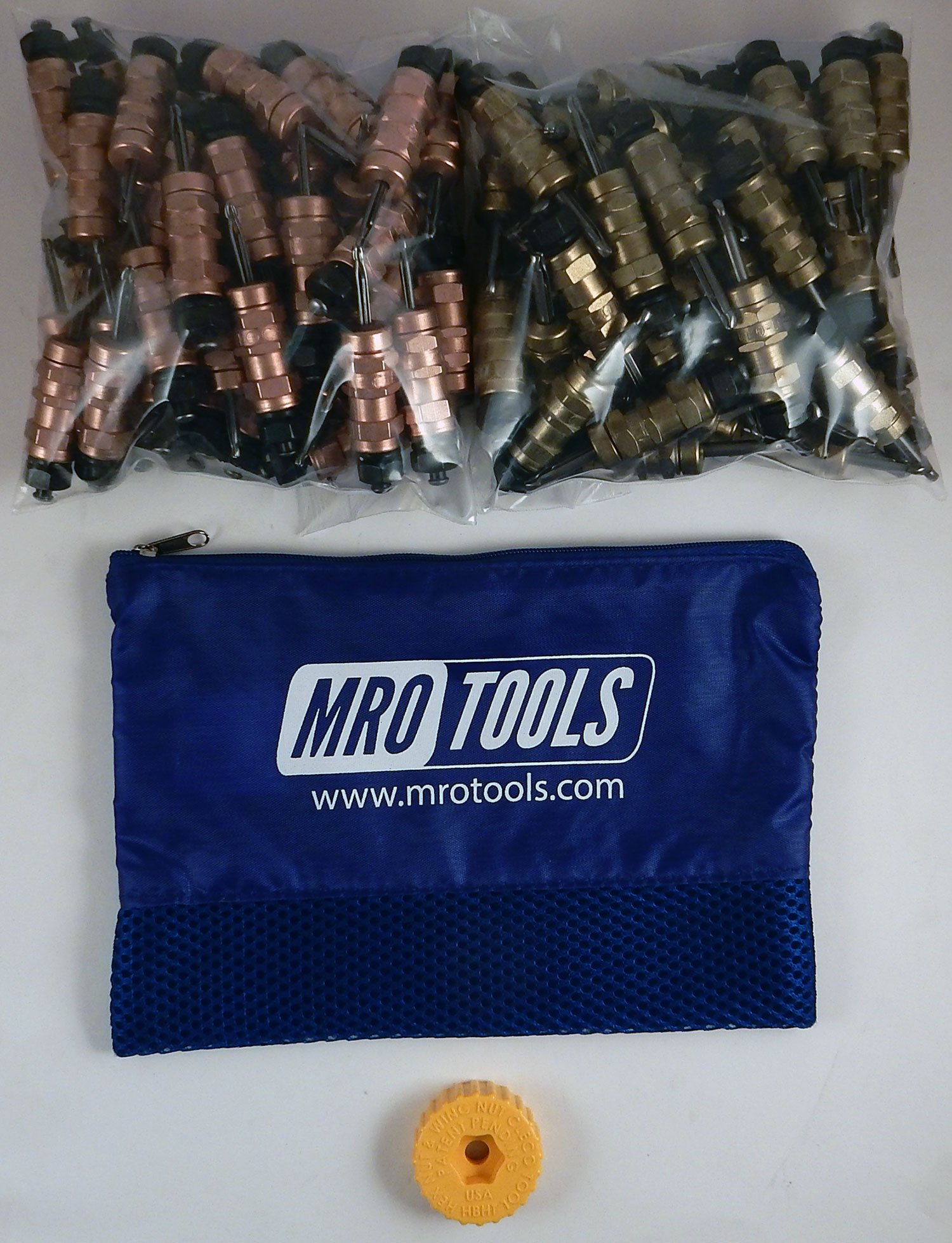 50 1/8 & 50 3/16 Standard Hex-Nut Cleco Fasteners w/ HBHT Tool & Bag (KHN4S100-1) by MRO Tools Cleco Fasteners