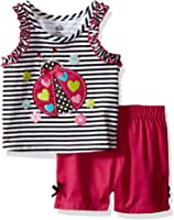 Kids Headquarters Baby Girls' Sleeveless Top With Woven Shorts