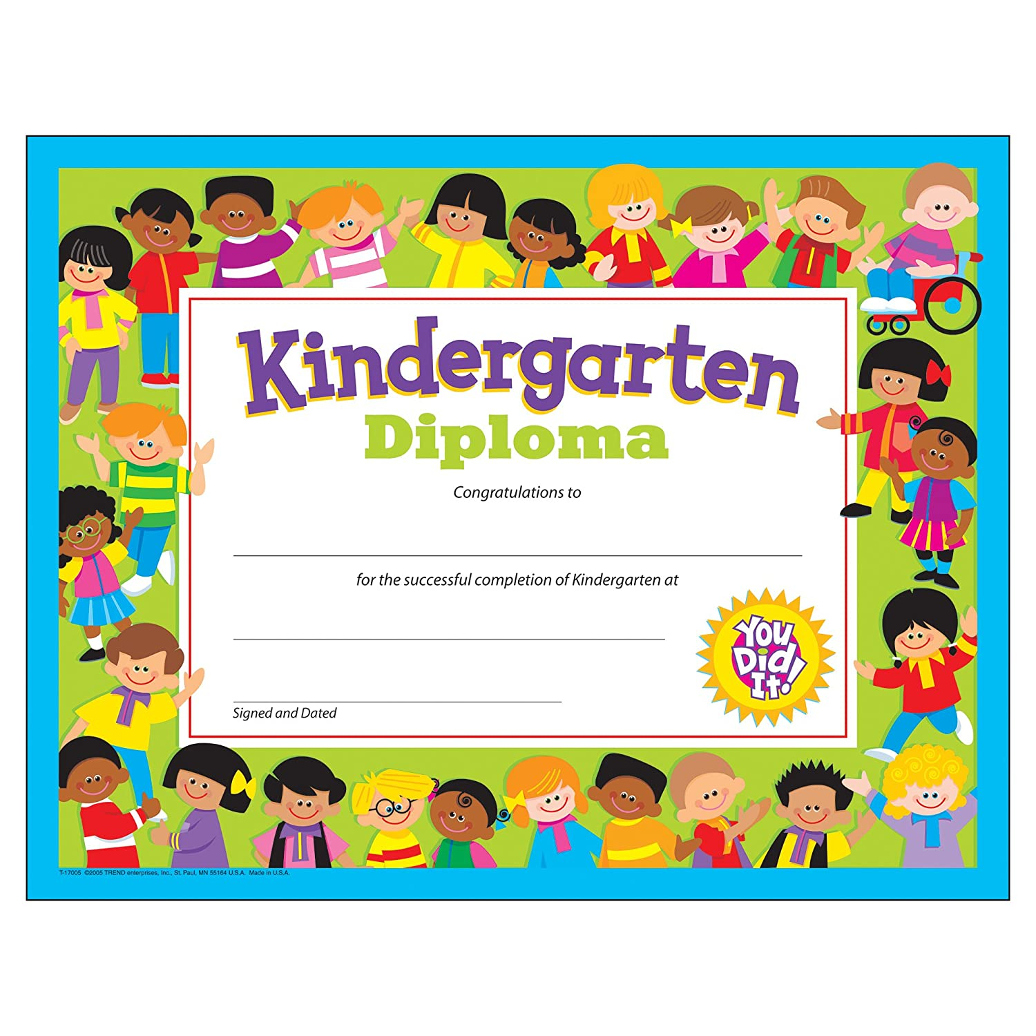 kindergarten graduation certificate  Amazon.com : Kindergarten Diploma : Blank Certificates : Office ...