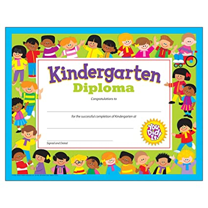 Amazon kindergarten diploma blank certificates office kindergarten diploma yadclub Image collections