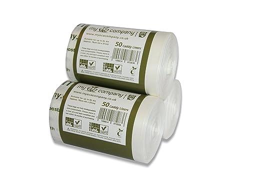 Bolsas de basura compostables para residuos de alimentos de ...