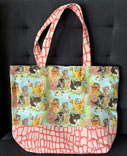 Cat Beach Tote Bag Handmade Original