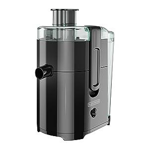 BLACK+DECKER 400-Watt Fruit and Vegetable Juice Extractor, Black, JE2400BD