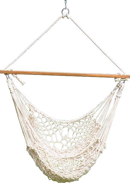 Patio Hammocks The Classic Cotton Rope Swing (White)
